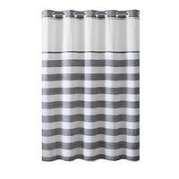 Hookless® Shower Curtain Yarndye Stripe Gray