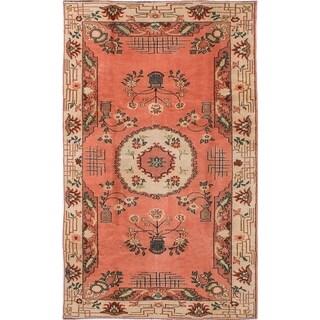 eCarpetGallery Antalya Pink Wool Hand-knotted Rug (5'10 x 9'8)