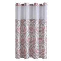 Hookless® Shower Curtain French Damask Print Coral