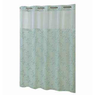 Hookless® Shower Curtain Spring Leaves Seaglass
