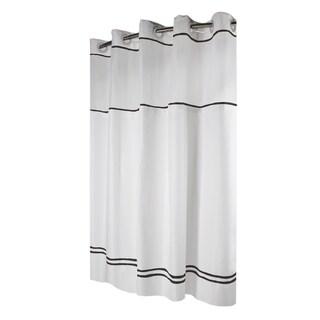 Hookless® Shower Curtain Monterey White/black