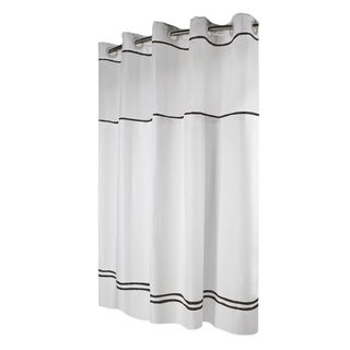Hookless® Shower Curtain Monterey White/black