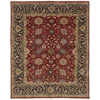 ecarpetgallery Hand-Knotted Serapi Heritage Red Wool Rug (7'11 x 9'10)