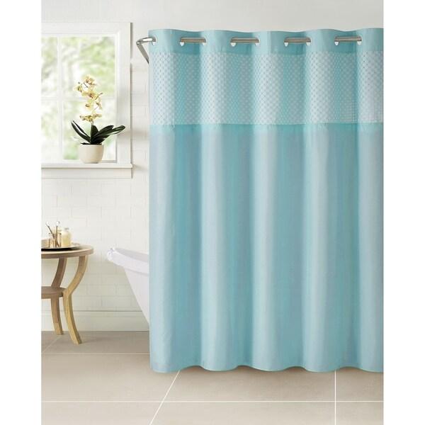 HooklessR Shower Curtain Plain Weave Bright White