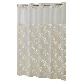 Hookless® Shower Curtain Spring Leaves Taupe