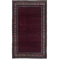 ecarpetgallery Hand-Knotted Rizbaft Blue, Brown Wool Rug (3'8 x 6'3)