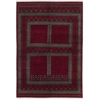 Ecarpetgallery Hand-knotted Peshawar Bokhara Red Wool Rug (6'1 x 9')