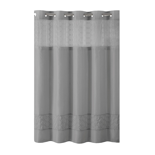 Hookless Shower Curtain Downtown Soho Slate Free Shipping Today 21767573
