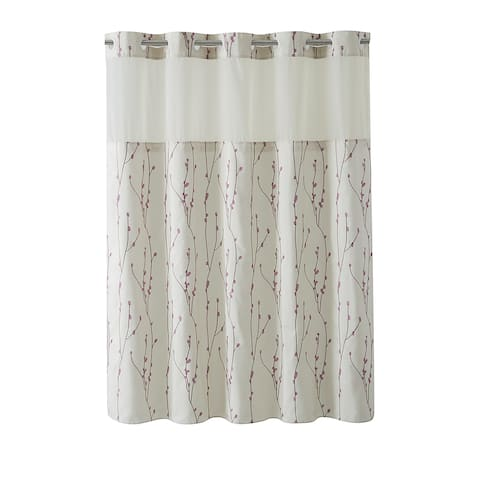 Hookless® Shower Curtain Cherry Bloom Pearl taupe