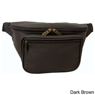 Amerileather Jumbo-size Leather Fanny Pack (Option: Dk Brown)