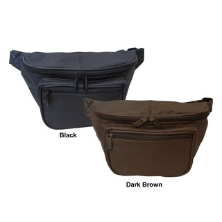 Amerileather Jumbo-size Leather Fanny Pack