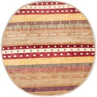 ecarpetgallery Hand-Knotted Peshawar Ziegler Brown, Red Wool Rug (8'2 x 8'2)