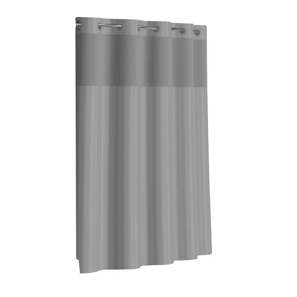 HooklessR Shower Curtain Victorian Satin Stripe Grey