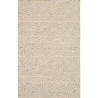 ecarpetgallery Tribeca Yellow Wool Kilim Rug
