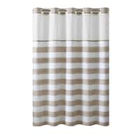 Hookless® Shower Curtain Yarndye Stripe Tan
