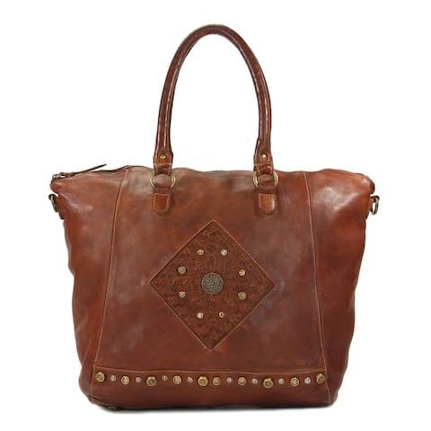 Old Trend Sierra Terra Leather Tote Bag