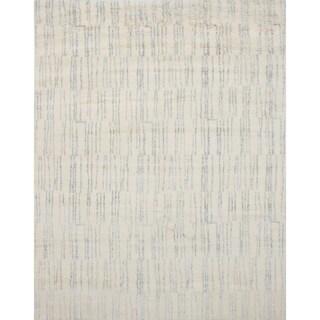 ecarpetgallery Arlequin Ivory Wool, Art Silk Rug
