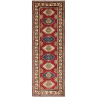 eCarpetGallery Multicolored Wool/Cotton Hand-knotted Finest Gazni Rug (2'11 x 8'10)
