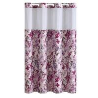 Hookless® Shower Curtain Water Color Floral Print Fuchsia