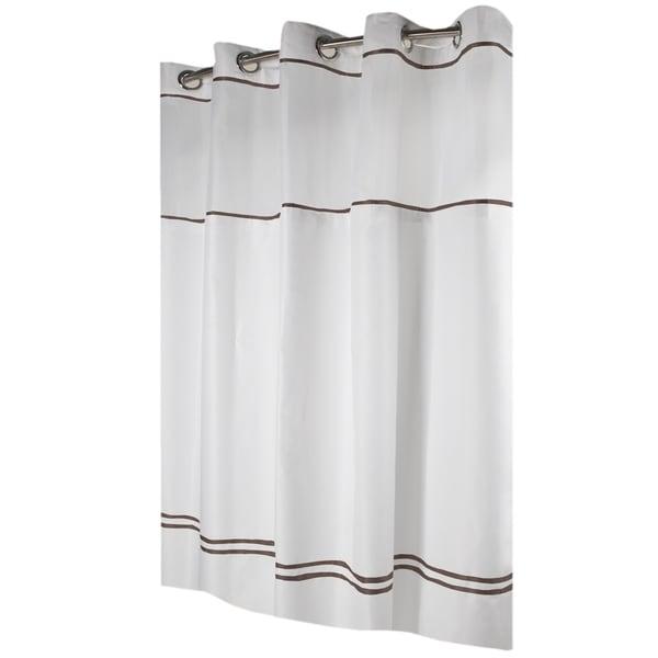 Shop HooklessR Shower Curtain Monterey White Brown