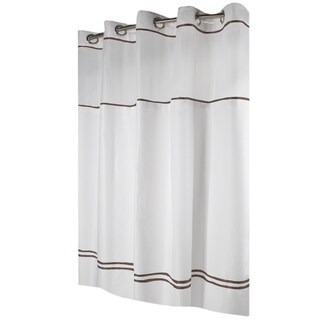 Hookless® Shower Curtain Monterey White/brown