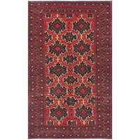 ecarpetgallery Hand-Knotted Finest Rizbaft Red  Wool Rug (5'8 x 9'8)