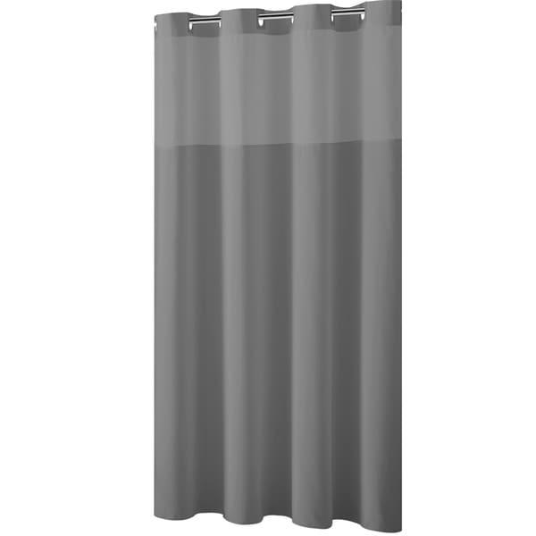 Great Hookless® Shower Curtain Plain Weave Frost Grey
