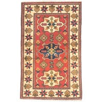 eCarpetGallery Red/Yellow Wool Hand-knotted Finest Kargahi Rug (2'8 x 4'3)