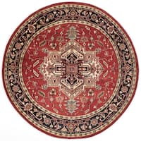 eCarpetGallery Serapi Heritage Red Wool Hand-knotted Rug - 8' x 8'