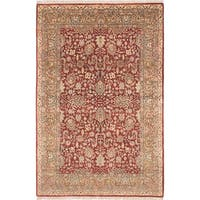 eCarpetGallery Jamshidpour Red Wool Hand-knotted Rug (5'10 x 8'9)