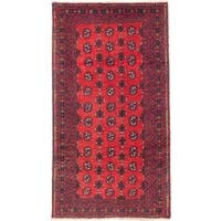 eCarpetGallery Royal Baluch Red Wool Hand-knotted Rug (3'6 x 6'2)