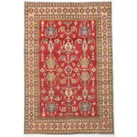ecarpetgallery Hand-knotted Finest Gazni Red Wool Rug (5'6 x 8'3)