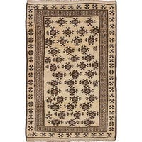 ecarpetgallery Hand-knotted Color Transition Ivory Wool Rug (3'3 x 5'2)