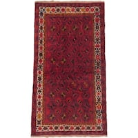 eCarpetGallery Baluch Red Hand-knotted Wool Rug (3'4 x 6'0)
