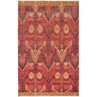 eCarpetGallery Finest Ziegler Chobi Red/Brown Cotton/Wool Hand-knotted Rug (5'10 x 9'2)