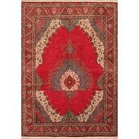eCarpetGallery Tabriz Hand-knotted Red Wool Rug (9'8 x 13'10)