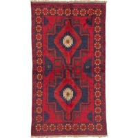 Hand-knotted eCarpetGallery Kazak Red Wool Rug (3' x 6')