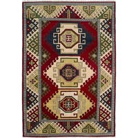 ecarpetgallery Hand-Knotted Royal Kazak Red Wool Rug (6'6 x 9'8)