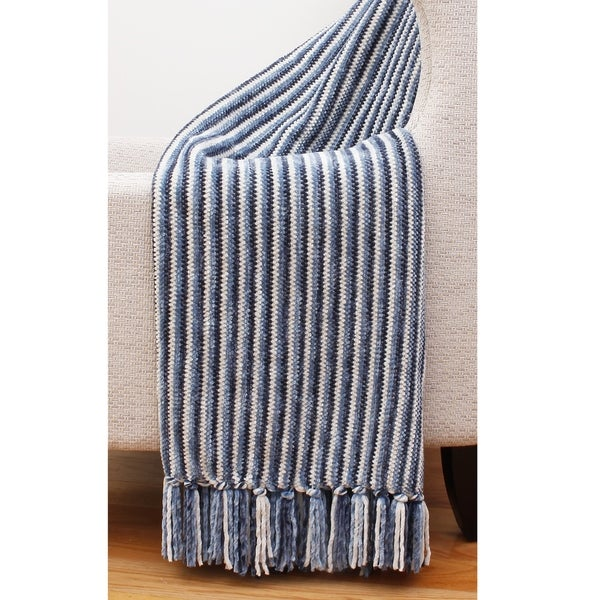 8bce7aa0a5 Shop Thro Shadow Striped Chenille Throw Blanket - Free Shipping Today -  Overstock - 21773391