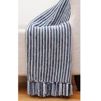 50x60 Shadow Striped Chenille Throw Blanket