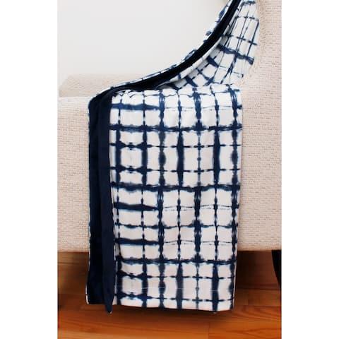 50x60 Sheila Shibori Printed Micromink Decorative Throw