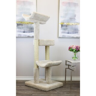 Prestige Cat Trees Solid Wood Double Scratching Post Cat Tower