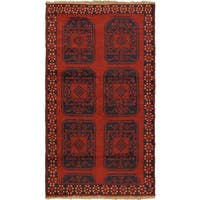 eCarpetGallery Bahor Red Wool Hand-knotted Rug - 3'7 x 6'6