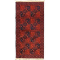 eCarpetGallery Hand-knotted Finest Rizbaft Red Wool Rug (3'9 x 6'11)