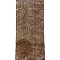 ecarpetgallery Color Transition Brown Wool Hand-knotted Rug (3'6 x 7'1)