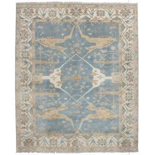 Ecarpetgallery Hand-knotted Royal Ushak Blue Wool Rug - 8'1 x 9'10