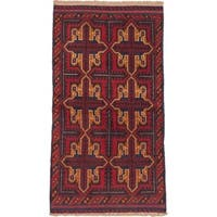 ecarpetgallery Hand-knotted Bahor Orange/Red Wool Rug (3'3 x 6'0)