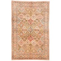 Ecarpetgallery Hand-knotted Persian Sarough Beige and Green Wool Rug (6'10 x 10'5)