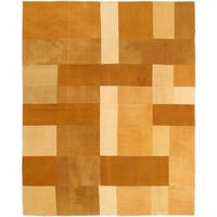 ecarpetgallery Brown Wool Handwoven Bohemian Kilim Rug