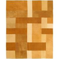 ecarpetgallery Brown Wool Handwoven Bohemian Kilim Rug - 6'7 x 8'2